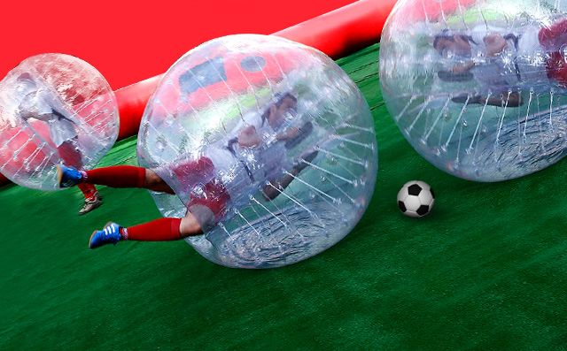 bubble soccer madrid